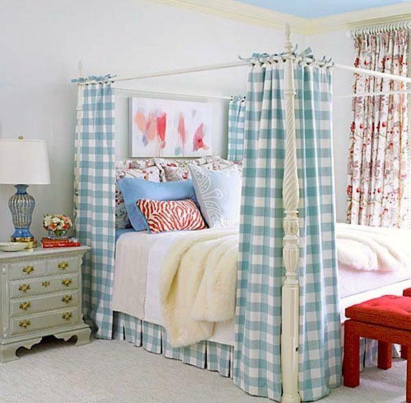 control de cama cortinas de la guinga párr sala de Las Niñas Adolescentes