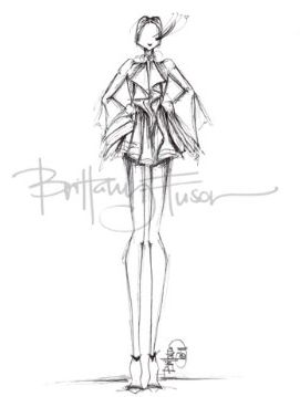 Fashion illustration - fashion design sketch // Brittany Fuson