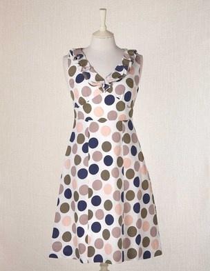 Ruffle Dress, linen, Boden $124.00
