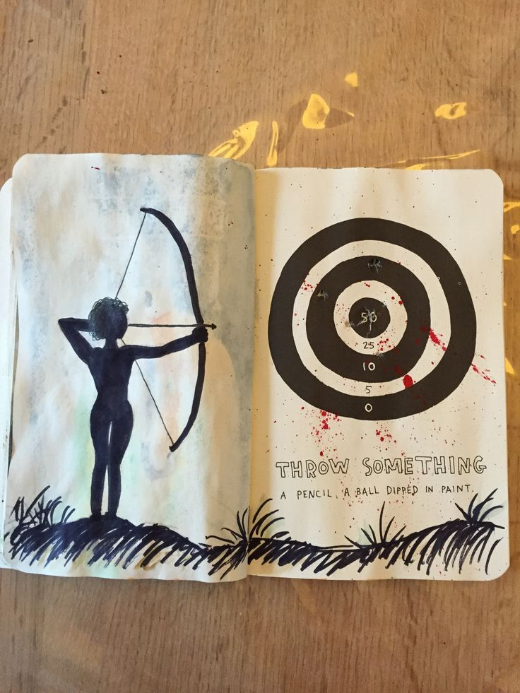 Wreck This Journal - Throw something a pencil a ball dipped in point