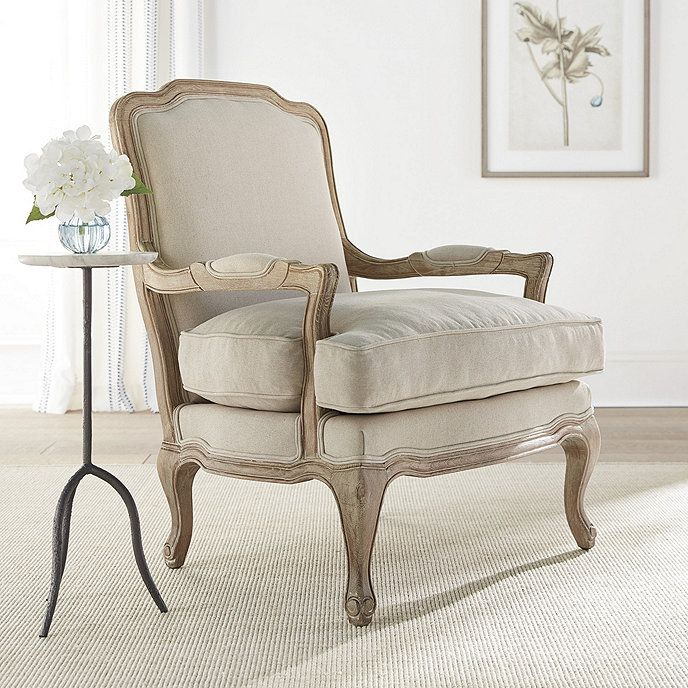 Mikaela Upholstered Accent Chair Upholstered Accent Chairs French Provincial Decor Living Room French Country Living Room