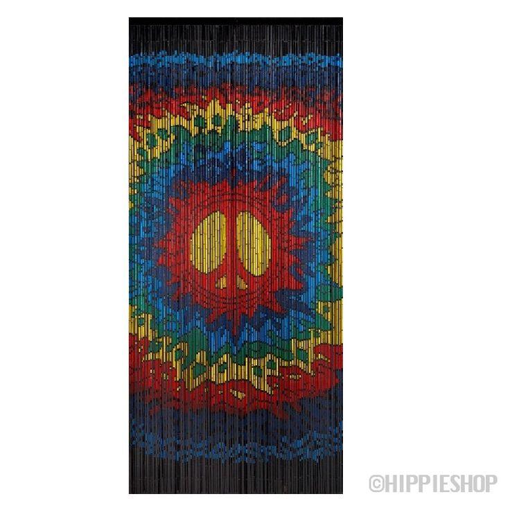 Psychedelic Peace Bamboo Door Beads Hippie Pinterest Door Beads Psychedelic And Bamboo