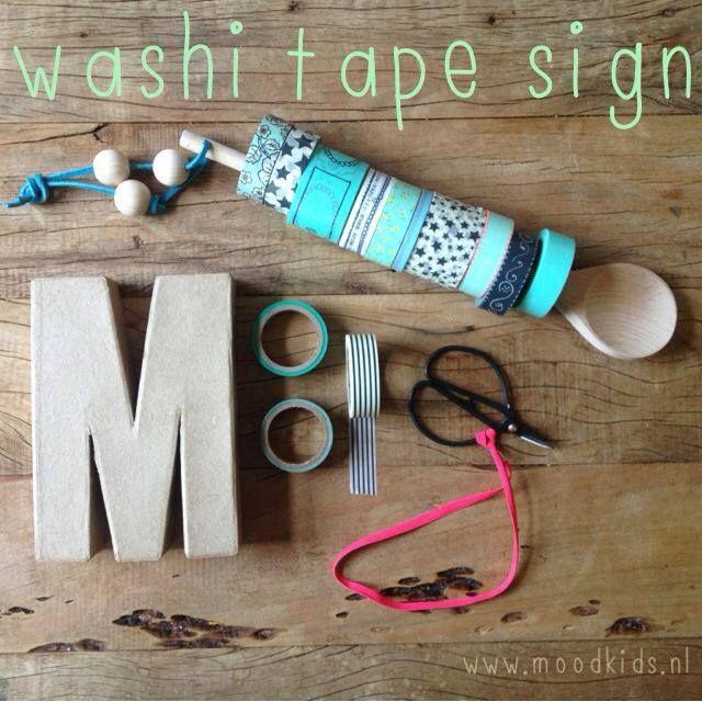 #DIY washi tape sign