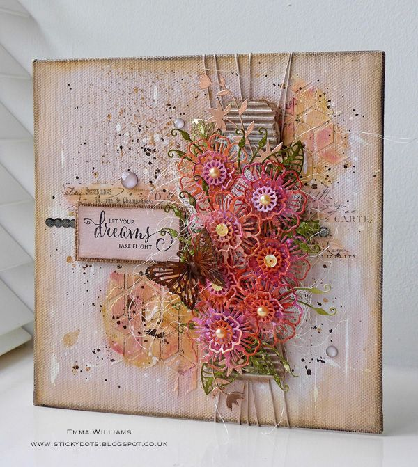 Dreamy Mixed Media Canvas   Simon Says Stamp Blog Created by Emma Williams