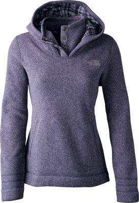 "Stay warm and cozy outdoors well into the night in The North Face's Women's Crescent Sunset Hoodie. Center Back Length: 27"" S izes: S-2XL. Colors: Fanfare Green Heather, Greystone Blue Heather, Rambutan Pink Heather, TNF™ Black Heather. $95"