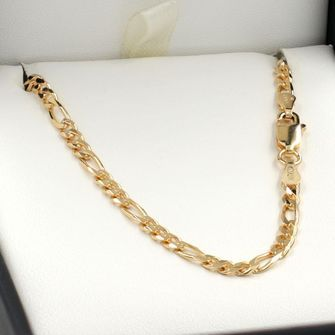 50cm Yellow Gold Figaro Chain Necklace - GN-BFD83