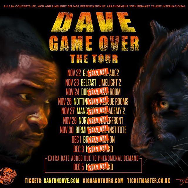 Santan Dave Dave Santandave Grime Music Rapper Tour Posters