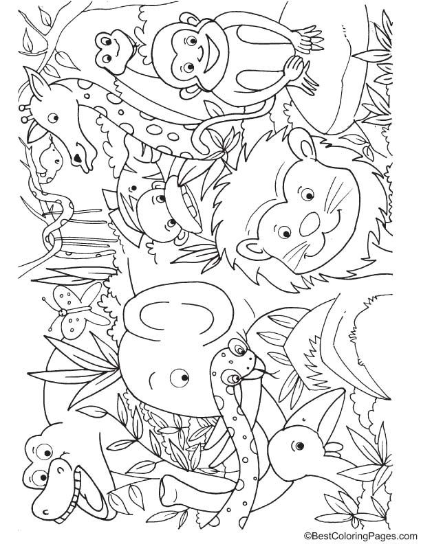 Animals In Jungle Coloring Page Crayola Coloring Pages Jungle Coloring Pages Zoo Animal Coloring Pages