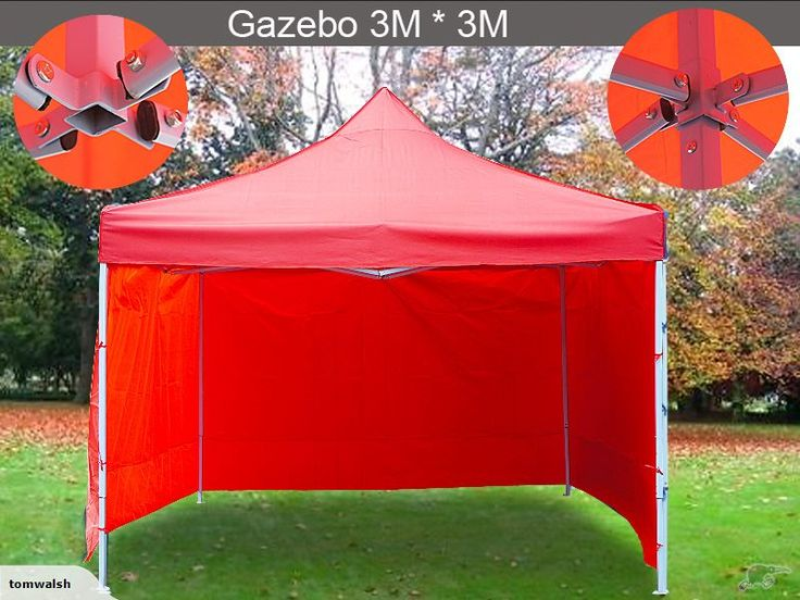 Gazebo With Sides 3mx3m 3 Side Walls - Heavy Duty | Trade Me