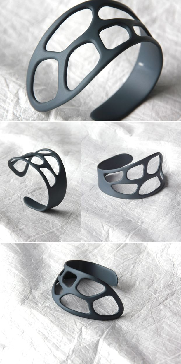 Bracelet - FLUID collection. Tomas Holub - minimalist jewelry made of anodized and polished aluminum. Enjoy your own piece of aluminum!