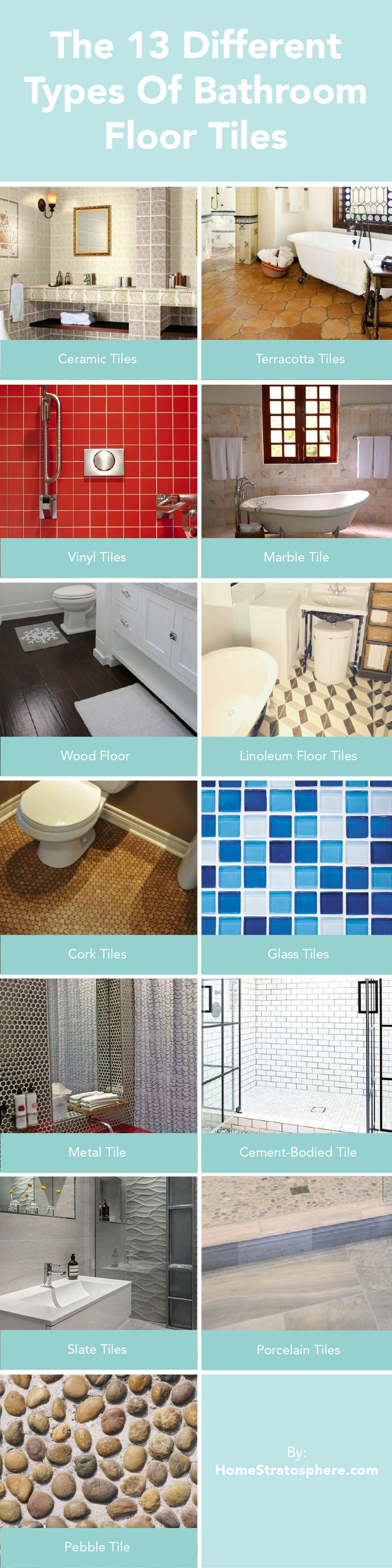 1524 best bathroom ideas images on pinterest bathroom ideas the 13 different types of bathroom floor tiles pros and cons dailygadgetfo Image collections