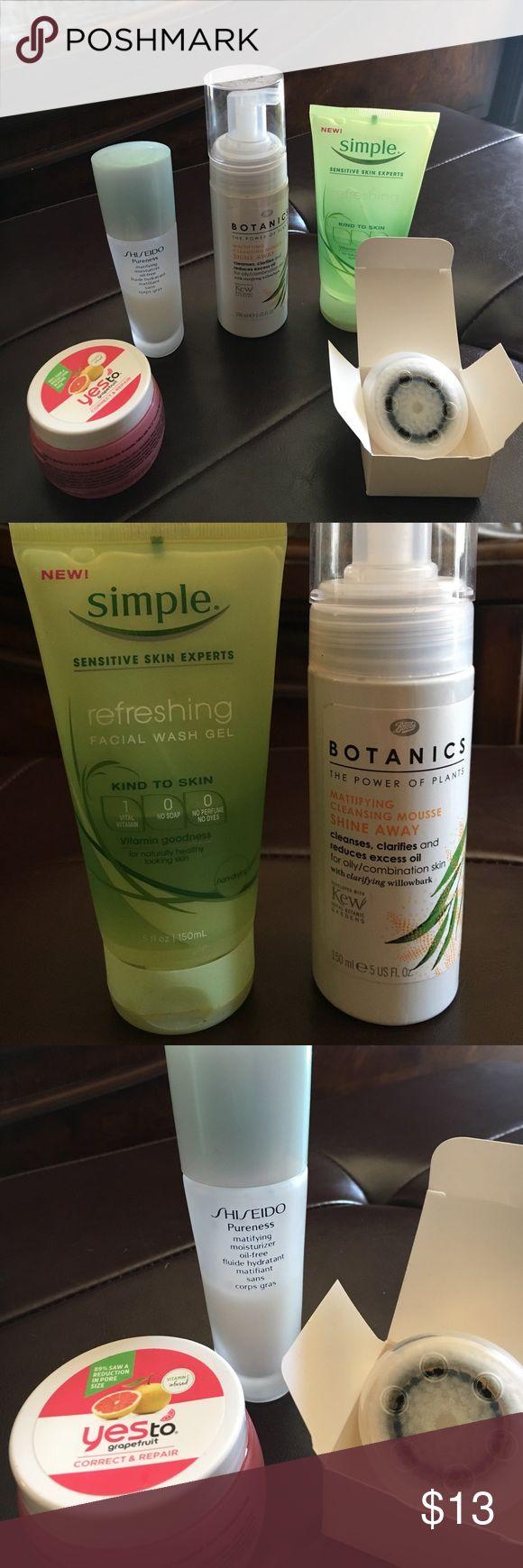 Skin Care Randoms Bundle Simple Refreshing Facial Wash Gelhalf Full  Botanics Mattifying Cleansing Mousse