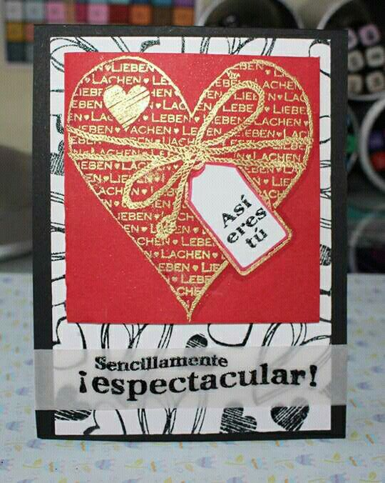 Tarjeta San Valentin (embossing)