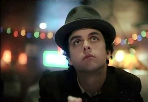 Billie Joe in ,Haunted'. Its damn cute how he has his earring :D :3