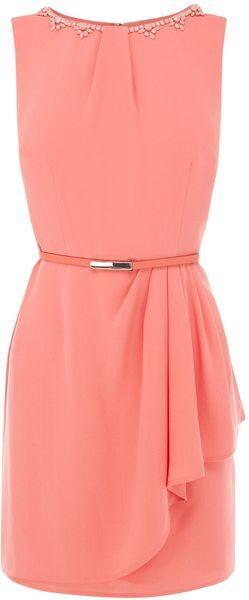 Oasis Mona Embellished Dress