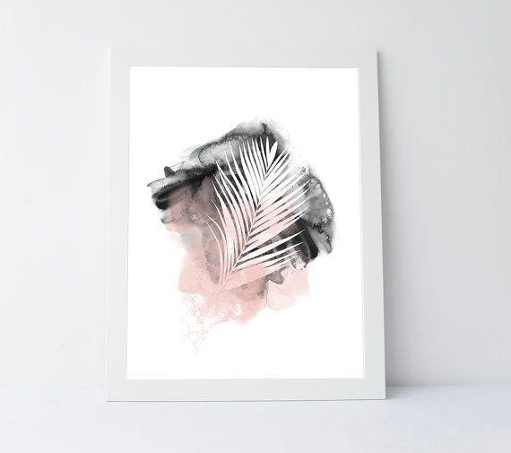Abstract palm leaf palm leaf print abstract by PrintableGiftIdeas