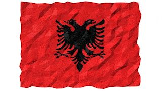 Flag of Albania 3D Wallpaper Animation by #Hebstreit   #3d #4K #abstract #Albania #Animation #background #banner #computer