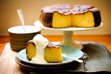 Gluten-free orange and passionfruit cake