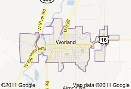 The town I grew up in. Worland, Wyoming.