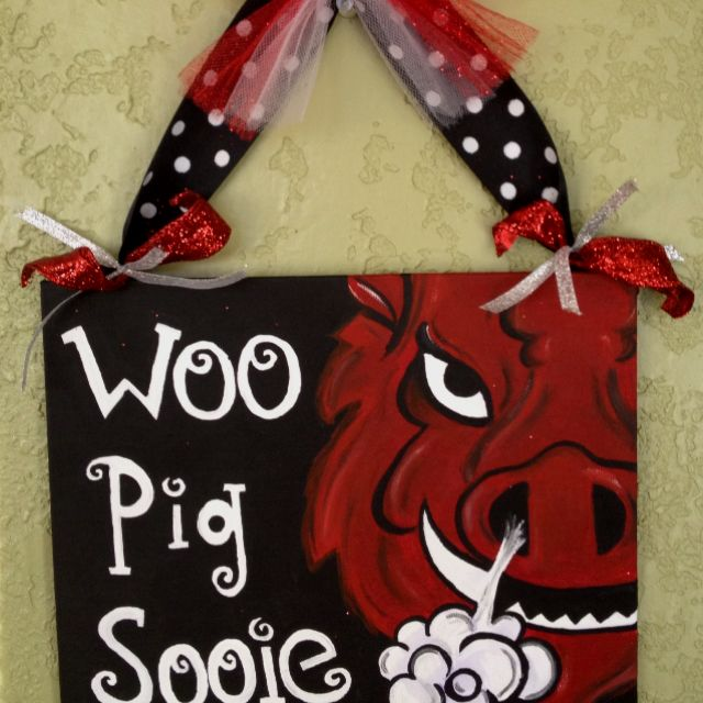 Razorback canvas painting!