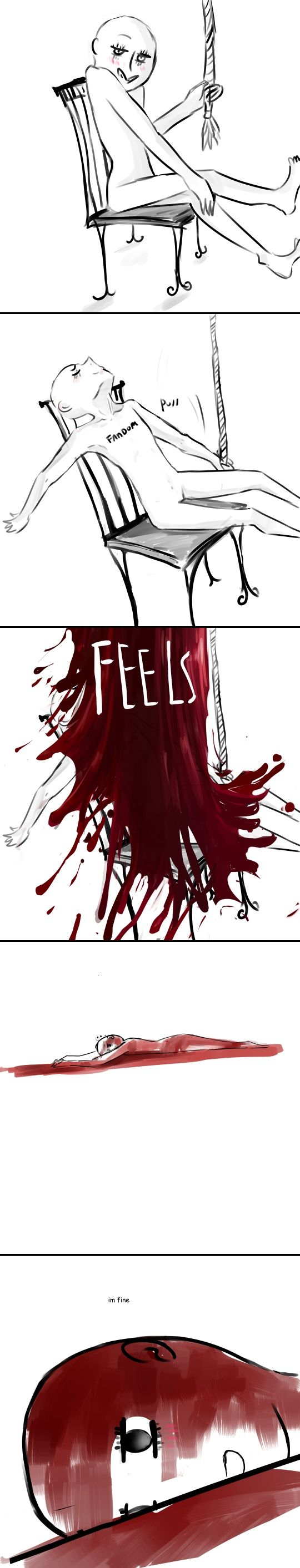 I love how the feels look like the blood of our favorite characters