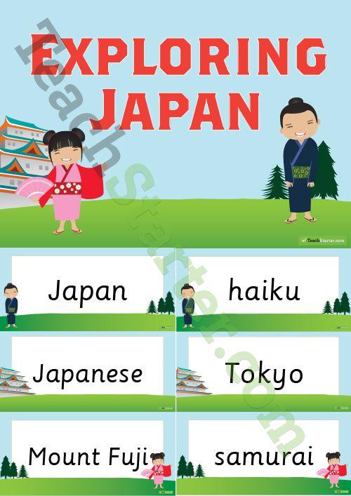 Exploring Japan Word Wall Teaching Resource