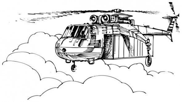 Military helicopter coloring page Educational Coloring
