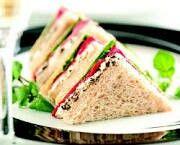 sandwiches hoort bij de hightea