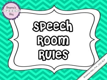 These are the most common rules I use with my students in my speech therapy room.I created the rules to take up an entire page so that the rules and clear and easy to read regardless of where they are posted in the room. I simply hang them on the wall or staple them to the bulletin board located in my therapy room.These rules are written in positive language to describe the rules.