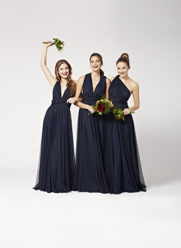 Two-Birds Tulle Convertible Bridesmaids Dresses: Spring 2015