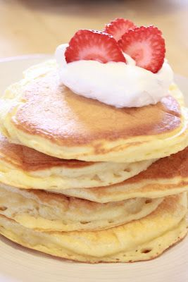 Best Homemade Pancakes..   Recipe from Pioneer Woman | Pinner says: I made these last night and they were so good. They are moist and perfect!!