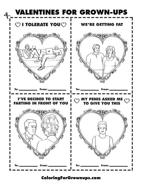 Valentines For Grown Ups Coloring Books Coloring Book Pages