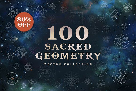 100 Sacred Geometry Vectors by Brainvasion on @creativemarket