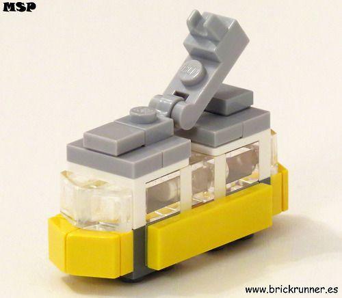 Lisbon Tram LEGO (by MSP!) I always love a good micro build....