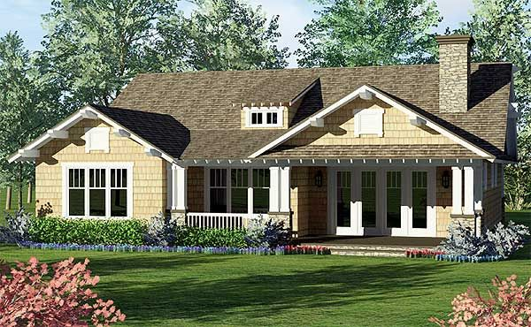 One Story Craftsman Home Plan