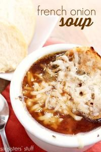 Six Sisters Slow Cooker French Onion Soup Recipe on MyRecipeMagic.com Let The Slow Cooker Handle This Meal