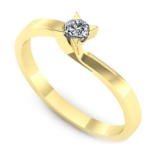 Inel logodna L28GDI Inel cu diamant