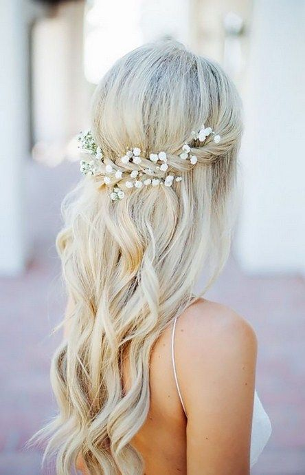 42 Half Up Half Down Wedding HairstylesWedding Hairstyles Half Up Half Down, with veil, with flowers bridal hair, long hair, short hair, long hair, ...
