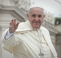 Pope Francis (Latin: Franciscus; Italian: Francesco; born Jorge Mario Bergoglio,17 December 1936) is pope of the Catholic Church, in which capacity he is Bishop of Rome and absolute Sovereign of the Vatican City State.