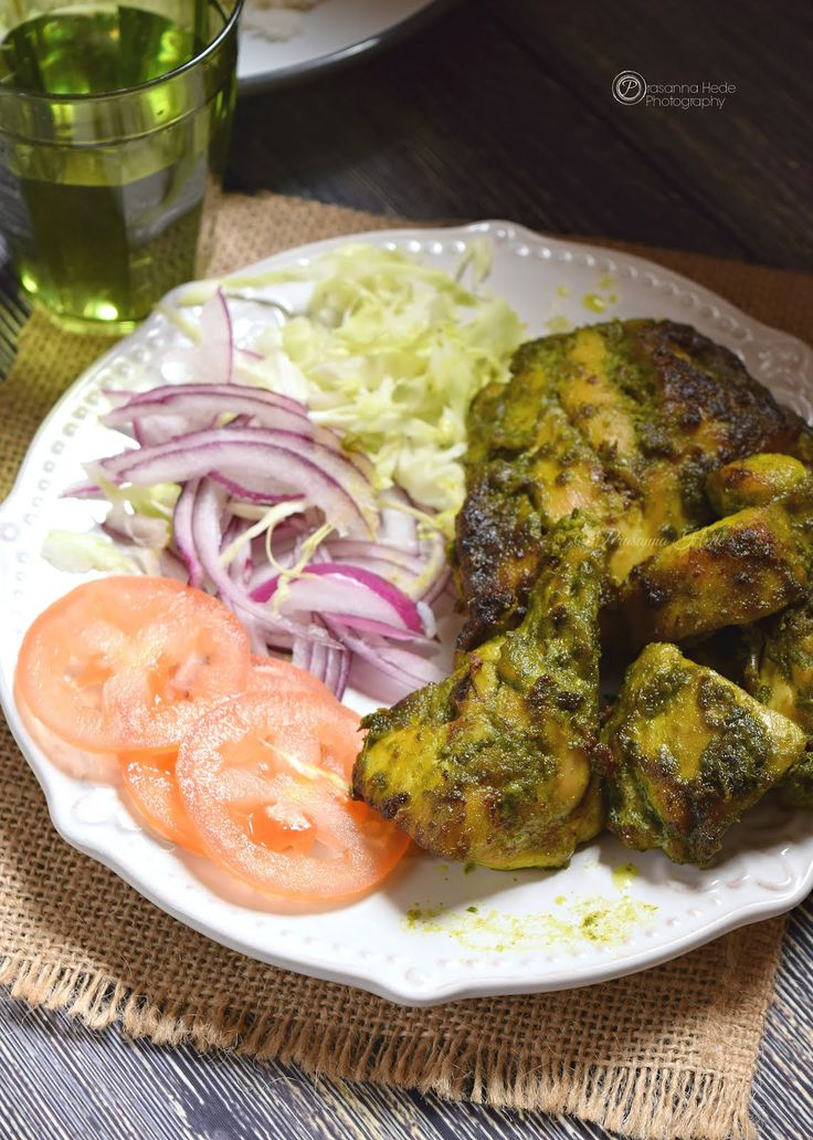 Delicious Oven Grilled Hariyali Chicken - Goodness of Veggies and chicken!