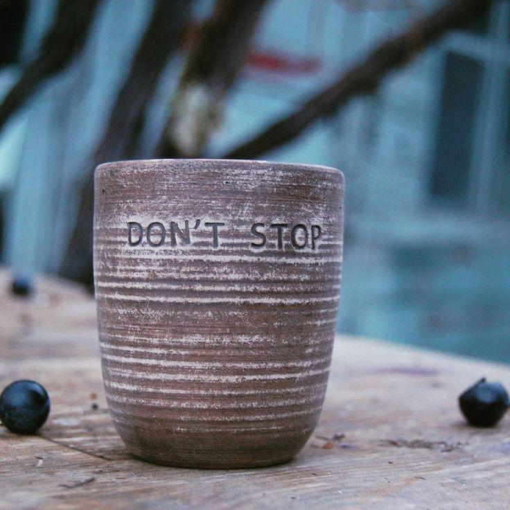 I won't. #MottoMug #CoffeeWisdom #dontstop #donteverstop #motivation #personalmotivation #customcup #personalizedcup #monogrammedcup #customgift #madeinUkraine #muha_handmade
