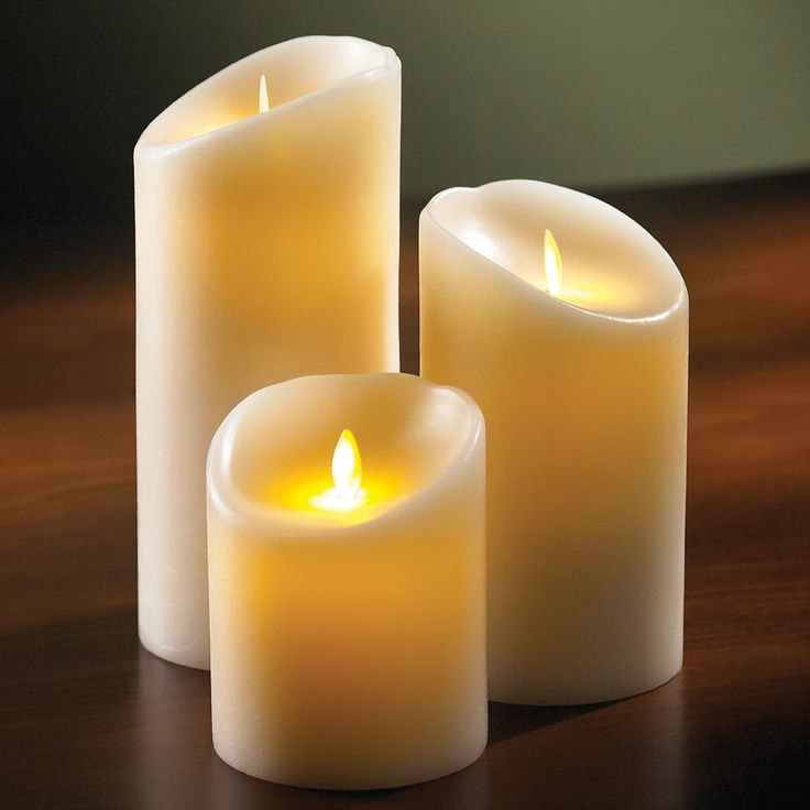 The Most Realistic Flameless Candle - Hammacher Schlemmer--pricy but FLAMELESS!...Great for that special occasion when you need it!! LOL