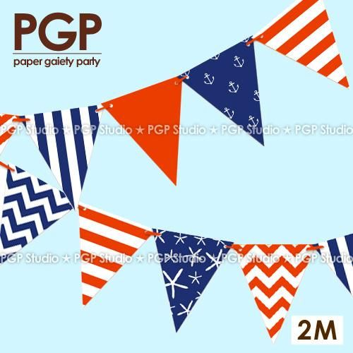 [Visit to Buy] [PGP] Paper Flags Garland,Baby Room Banner Bunting,Circus Sea Frozens Sailor Kids Girls Birthday Nautical Theme Party Decoration #Advertisement