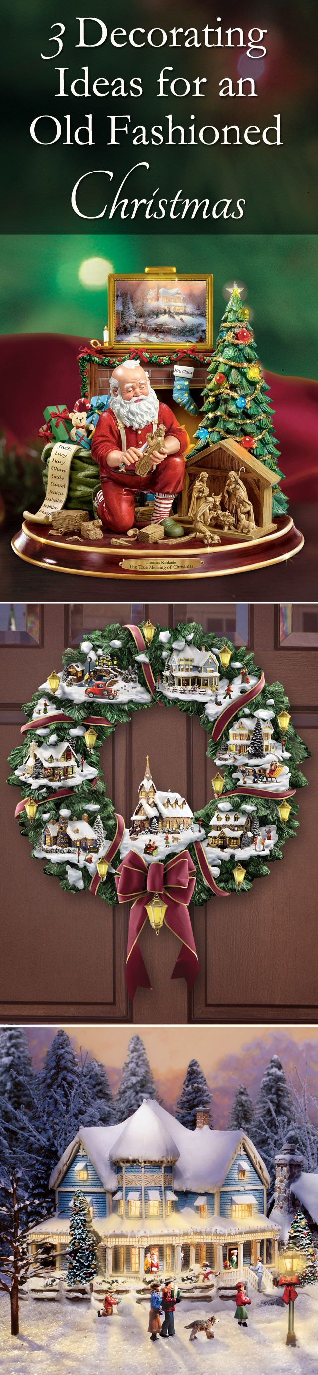 Add a nostalgic touch to your holiday display with Christmas decor that harkens back to simpler times. We offer a wide selection of festive wreaths, table centerpieces, wall decor and more, sure to bring the warmth and beauty of a traditional Christmas to your home.