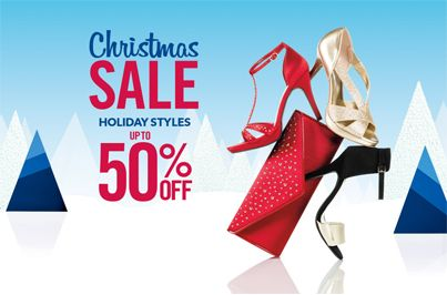 """The Christmas Sale at Payless: """"Up to 50% off Holiday Styles""""  •Women's Boots Up to 50% off •Women's Holiday Dress Shoes Up to 50% •Entire Stock of Men's Dexter Comfort shoes 40% Off •Girl's dress shoes starting at $14.99"""