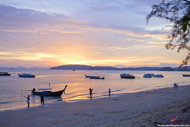 Ao Nang Beaches in Krabi. Ao Nang is Krabi's vibrant tourist centre. It has the relaxed atmosphere of a small town,  the beauty of a beach resort, and the unique friendliness that sets Thailand apart from the rest. http://www.thailandholidayhomes.co.uk/krabi/attractions/ao-nang.html