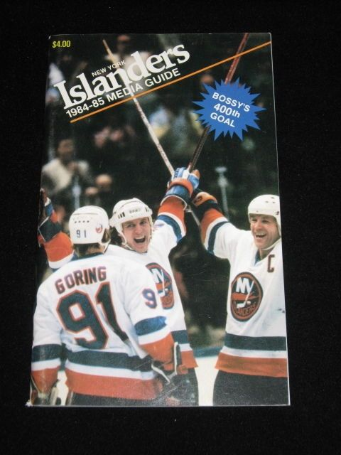 1984 - 1985 New York ISLANDERS Media Guide - Mike Bossy | Sports Mem, Cards & Fan Shop, Vintage Sports Memorabilia, Publications | eBay!