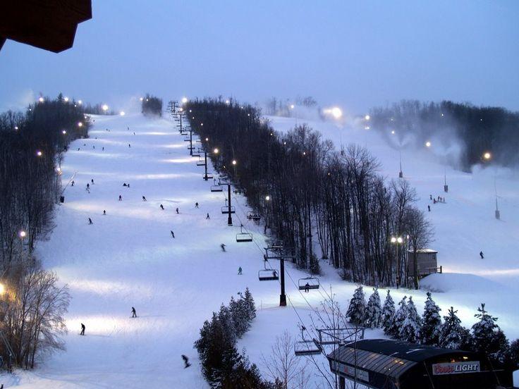 Blue Mountain Ski Resort, Collingwood, Ontario Canada.