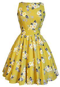 LADY VINTAGE HEPBURN TEA DRESS in 10 DIFFERENT PRINTS *50s ROCKABILLY* SIZE 8-20   eBay