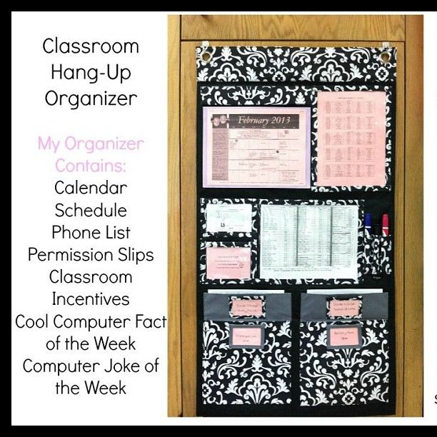 Great ideas for using the Hang-Ups Home Organizer in your classroom!